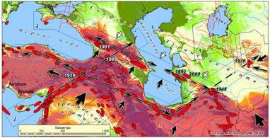 Карта разломов земной коры турции и